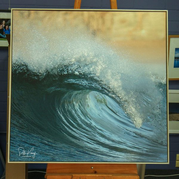 Curling Over - Canvas Stretched with Spacer Frame